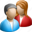 accounts, company, conference, meeting, people, social life, user group icon