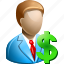 banking, business man, finance, financial, invest, loan, salary icon