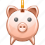 bank, cash, money, pig, piggy, piggy bank, safe, safety, save, store icon