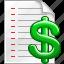 financial, green dollar, invoice, money, price list, pricelist, prices icon