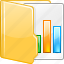 chart, document case, documents, open folder, report, reports, statistics icon