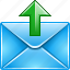 administe, character, cover, despatch, dispatch, email, envelope, favor, forward, letter, mail, message, outbox, scroll, send, send out, set off, shoot, sms, transmit, up, upload, writing icon