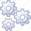 configuration, desktop options, gear, gears, settings, tools, work icon