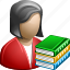 book, books, classic, education, learning, professor, read, reader, reading, school, student, study, teacher, training icon