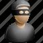 baldie, criminal, hat, thief, user icon