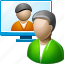 chat, communication, contacts, email, message, people, visual contact icon