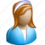avatar, female, girl, maid, manager, waitress, woman icon
