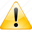 alert, attention, warning icon