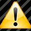 alert, attention, warning icon