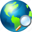 earth, find, globe, place, search, seo, zoom icon