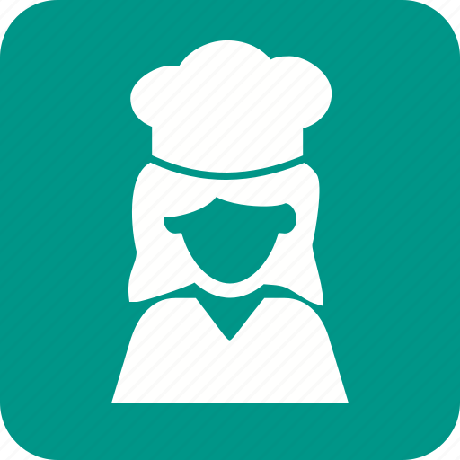 baker, cake, chef, female, food, kitchen, occupation icon