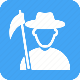 agriculture, farmer, field, harvest, man, nature, organic icon