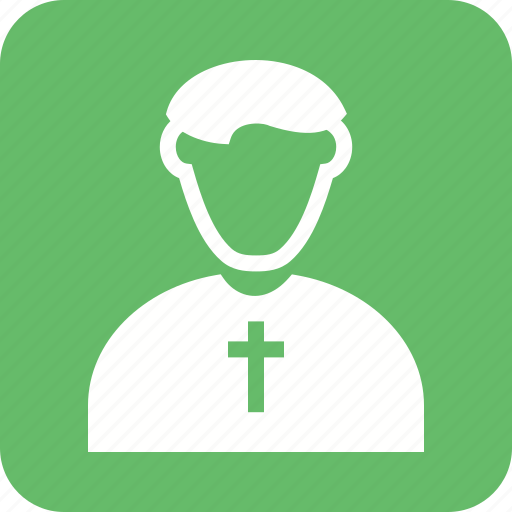 catholic, christian, church, cross, man, priest icon
