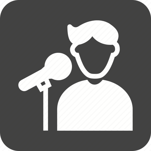 concert, microphone, pop, singer, singing, stage, star icon