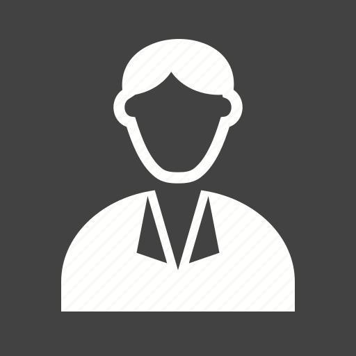 business, businessman, executive, laptop, man, office, tie icon