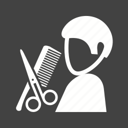barbershop, hair, haircut, hairdresser, hairdressing, salon, scissors icon