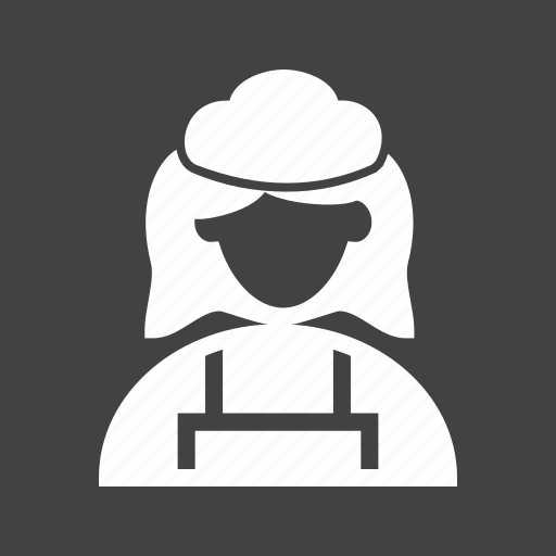 cleaner, cleaning, domestic, female, hotel, maid, service icon