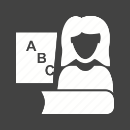board, classroom, college, female, professor, school, teacher icon