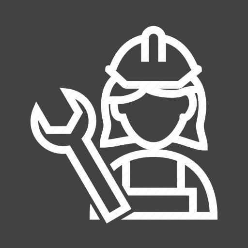 auto, female, maintenance, mechanic, repair, service, shop icon