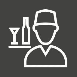 hotel, people, restaurant, service, staff, tray, waiter icon