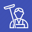 cleaner, service, office, cleaners, cleaning, house, professional icon