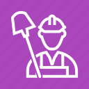 workers, work, worker, labor, coal, labour, day icon