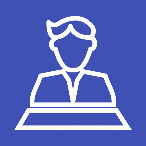 Anchor, host, journalist, news, presenter, speaker, tv icon - Download on Iconfinder