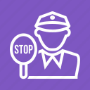 cop, crime, emergency, law, officer, police, traffic icon
