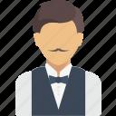 avatar, job, profession, professions, profile, user, waiter