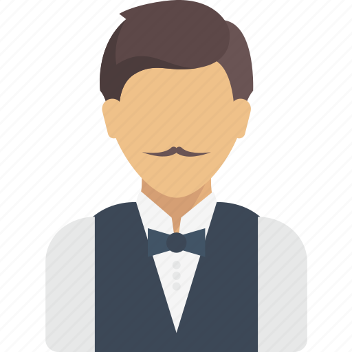 avatar, job, profession, professions, profile, user, waiter icon