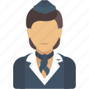 avatar, job, profession, professions, profile, stewardess, user icon