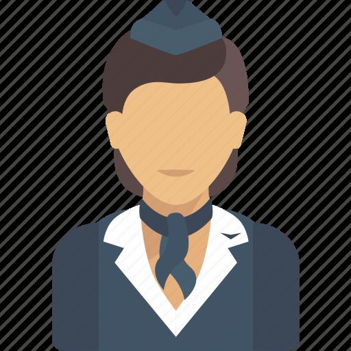 avatar, job, profession, professions, profile, stewardess, user icon