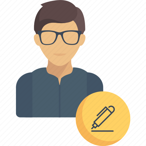 avatar, jobs, profession, professions, support, user, writer icon