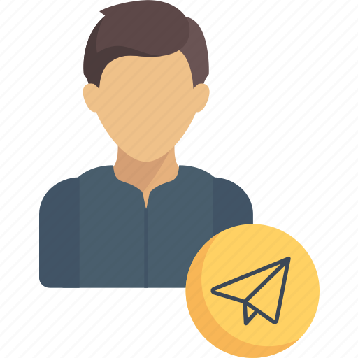 avatar, jobs, mail, profession, support, user, writer icon