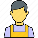 avatar, male, man, mechanic, person, profile, user icon