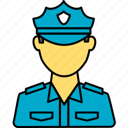 avatar, guard, police, police officer, policeman, security, security guard icon