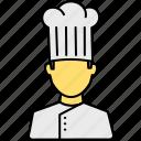chef, cap, cook, hat, avatar, kitchen, restaurant