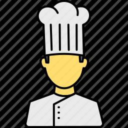 avatar, cap, chef, cook, hat, kitchen, restaurant icon