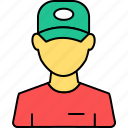 avatar, profile, restaurant, service, support, waiter, worker icon