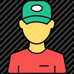 avatar, profile, restaurant, service, support, waiter, worker icon