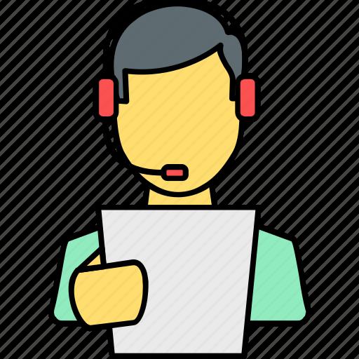 avatar, person, profile, speaker, spokesman, student, telecaller icon