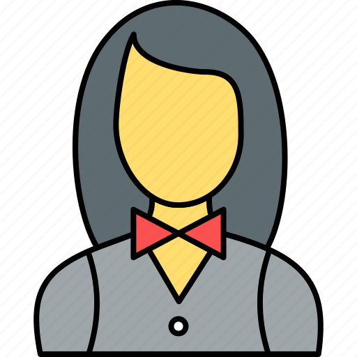 avatar, female, girl, person, user, waitress, woman icon