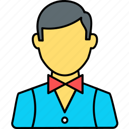 avatar, boy, male, man, person, profile, waiter icon