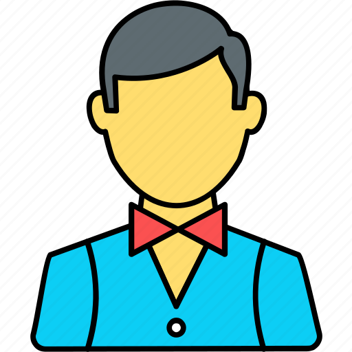 avatar, boy, male, man, person, profile, waiter icon