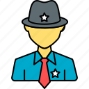 security, police, sheriff, profile, person, avatar, security guard