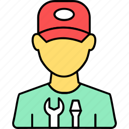 avatar, mechanic, person, plumber, plumbing, profile, user icon