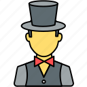 avatar, entertainer, magician, organizer, party, person, profile icon