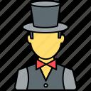 party, organizer, entertainer, magician, profile, person, avatar