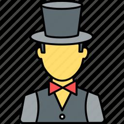 avatar, entertainer, magician, organizer, party, person, profile icon