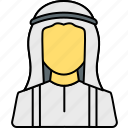 arab, arabian, avatar, islamic, muslim, person, profile icon